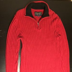 Nautica Jeans Co Mens Pullover Knit Sweater Red